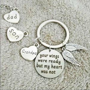 """Accessories - Memorial Keychain """"Your Wings were ready but."""""""